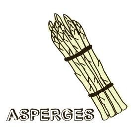 Asperges van de barbecue