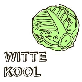 Noedels met witte kool