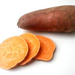 Gepofte zoete aardappel met boerenkool