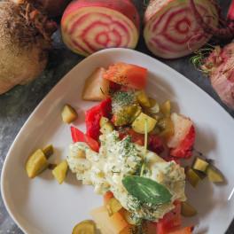 Scandinavische bietensalade