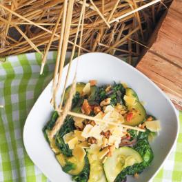 Andijvie uit de wok met spekjes