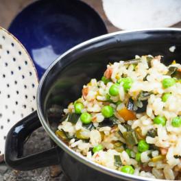 Prei risotto uit de oven